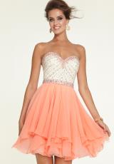 Mori Lee Sticks & Stones 9306.  Available in Champagne/Bright Coral, Champagne/Hot Pink, Champagne/Mint