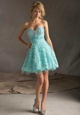 Mori Lee Sticks and Stones 9242.  Available in Aqua, Champagne