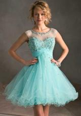 Mori Lee Sticks and Stones 9244.  Available in Aqua, Champagne