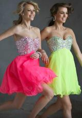 Mori Lee Sticks & Stones 9245.  Available in Neon Lime, Neon Pink