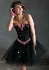 Mori Lee Sticks and Stones 9246.  Available in Black/Aqua, Black/Hot Pink