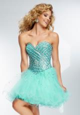 Mori Lee Sticks & Stones 9251.  Available in Aqua, Light Purple