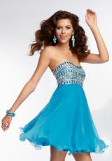 Mori Lee Sticks & Stones 9258.  Available in Bright Blue, Neon Orange, White
