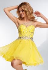 Mori Lee Sticks & Stones 9262.  Available in Banana Split, Neon Pink