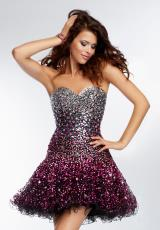 Mori Lee Sticks & Stones 9266.  Available in Blk/Bronze, Blk/Fuchsia, Blk/Purple, Blk/Turquoise