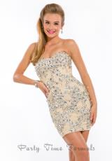 Party Time Dresses 6325.  Available in Aquamarine/Nude, Nude, Pink/Nude