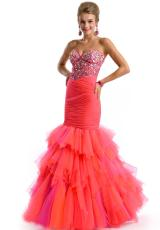 Party Time Dresses 6074.  Available in Aqua/Lime, Fuchsia/Orange