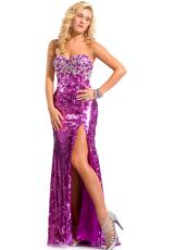 Party Time Dresses 6084.  Available in Fuchsia, White Iridescent