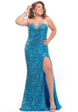 Party Time Dresses 6260.  Available in Purple, Turquoise