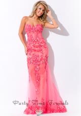 Party Time Formals 6433.  Available in Coral, Turquoise