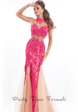 Rachel Allan 6449.  Available in Black/Nude, Fuchsia/Nude, Royal/Nude