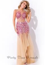 Rachel Allan 6476.  Available in Fuchsia/Nude, Shamrock/Nude