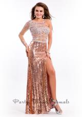 Party Time Dresses 6507.  Available in Black/Nude, Copper/Nude, Turquoise/Nude