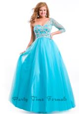 Party Time Dresses 6539.  Available in Aqua, Black, Red