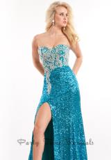 Rachel Allan 6557.  Available in Cobalt, Fuchsia, Gold, Teal