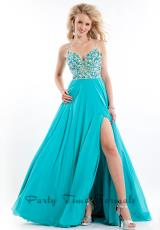 Rachel Allan 6558.  Available in Neon Pink, Teal, White/Gold