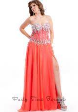 Party Time Dresses 6594.  Available in Black, Coral, Turquoise