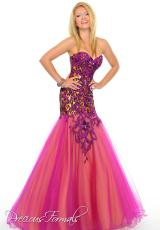 Precious Formals C55131.  Available in Fuchsia/Gold