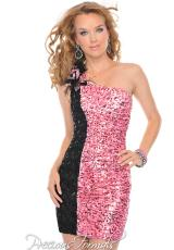 Precious Formals P55138.  Available in Pink/Black