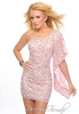 Precious Formals P8919.  Available in Crystal Pink, Frosty Meadow