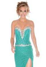 Precious Formals P10555.  Available in Bubblegum Pink, Teal
