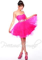 Precious Formals P35068.  Available in Fuchsia, Light Blue