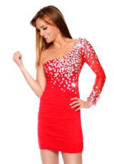 Precious Formals P46675.  Available in Bubblegum Pink, Orange, Red, Royal