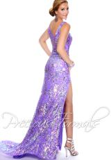Precious Formals P9036.  Available in Crystal Lilac/Silver, Crystal Orange/Silver