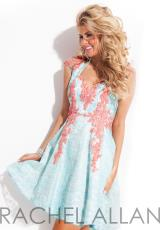 Rachel Allan 6679.  Available in Black/Nude, Sky Blue/Soft Coral