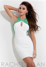Rachel Allan 6680.  Available in White/Green