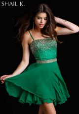Shail K. KL3232.  Available in Emerald/Gold, Purple/Turquoise, Red/Black