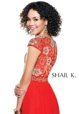Shail K. 3925.  Available in Mint/Gold, Red/Gold