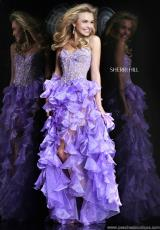 Sherri Hill 11093.  Available in Coral, Emerald, Ivory, Lilac, Red, Strawberry, Turquoise, Yellow