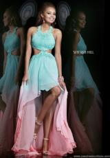 Sherri Hill 11140.  Available in Coral/Aqua