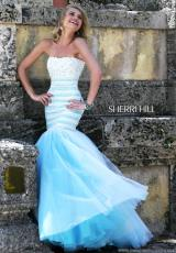 Sherri Hill 11154.  Available in Black/Nude, Red/Nude, White/Blue, White/Green, White/Nude, White/Pink