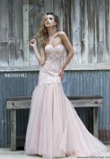Sherri Hill 11155.  Available in Blue/Nude, Blush/Nude, Green/Nude, Ivory/Nude, Red/Nude