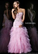 Sherri Hill 1598.  Available in Pink/Gold