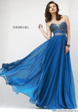 Sherri Hill 1937.  Available in Black/Gunmetal, Royal/Gunmetal, Ruby/Gunmetal, Teal/Gunmetal