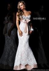 Sherri Hill 21017.  Available in Ivory/Nude