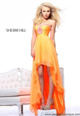 Sherri Hill 21114.  Available in Ivory, Neon Lime, Neon Orange, Neon Pink, Pink