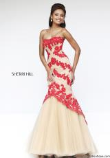 Sherri Hill 21270.  Available in Ivory/Nude, Red/Nude