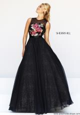 Sherri Hill 21313.  Available in Black/Multi, Nude/Multi