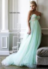Sherri Hill 21314.  Available in Green/Aqua/Peach