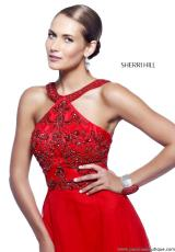 Sherri Hill 21338.  Available in Aqua, Purple, Red, Royal
