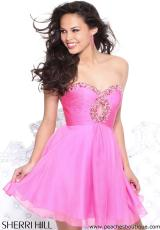 Sherri Hill Short 2944.  Available in Candy Pink, Fuchsia, Teal, Turquoise