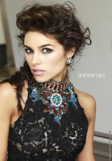 Sherri Hill 32054.  Available in Black/Multi, Ivory/Multi