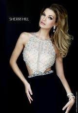 Sherri Hill 32069.  Available in Black, Coral