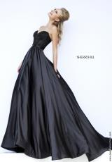 Sherri Hill 32084.  Available in Black, Black/White, Dark Nude, Red