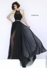 Sherri Hill 32109.  Available in Black, Coral, Gold, Ivory, Navy, Red