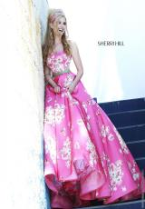 Sherri Hill 32128.  Available in Blue, Light Yellow, Pink